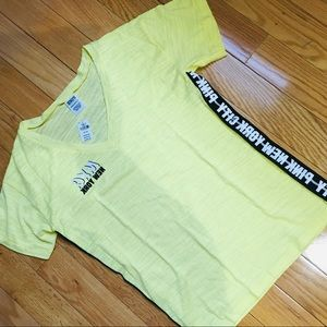 Victoria's Secret pink yellow T-shirt new with tag